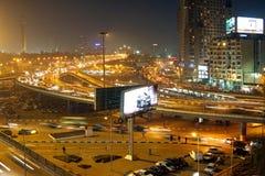 Noche en El Cairo Foto de archivo libre de regalías
