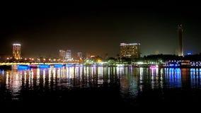 Noche en El Cairo, Egipto almacen de video
