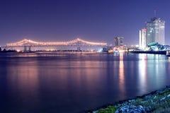 Noche en el Mississippi Imagen de archivo libre de regalías