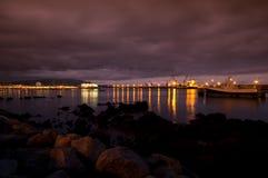 Noche en el puerto Fotografía de archivo libre de regalías
