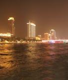 Noche en el río de Zhujiang en Guangzhou China Fotos de archivo libres de regalías