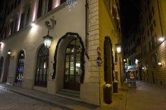 Noche en Florencia Fotografía de archivo