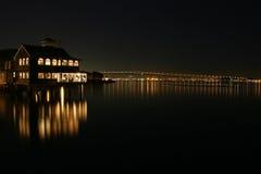 Noche en la bahía de San Diego Foto de archivo
