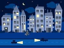 Noche en la ciudad Imágenes de archivo libres de regalías