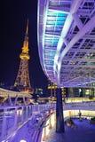 Noche en la ciudad de Nagoya Fotos de archivo libres de regalías