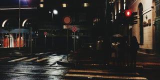 Noche en la ciudad de Turín Foto de archivo