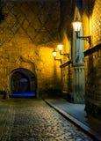 Noche en la ciudad vieja de Riga Imagen de archivo