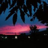 Noche en la escuela imagenes de archivo