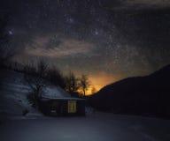 Noche en la montaña Imagenes de archivo