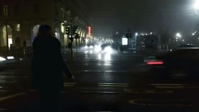 Noche en las calles de la ciudad Foto de archivo