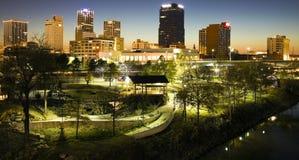 Noche en Little Rock Fotos de archivo libres de regalías