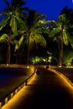 Noche en maldives fotografía de archivo
