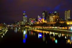 NOCHE EN MELBOURNE Foto de archivo libre de regalías