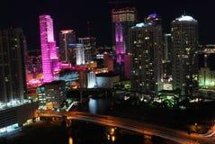 Noche en Miami Imagen de archivo libre de regalías
