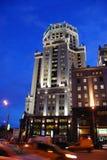 Noche en Moscú Imagen de archivo libre de regalías