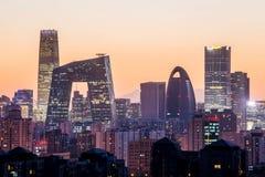 Noche en Pekín Foto de archivo libre de regalías