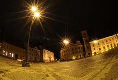 Noche en Sibiu Foto de archivo