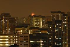 Noche en Singapur Fotos de archivo