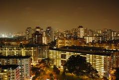 Noche en Singapur Foto de archivo libre de regalías