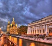 Noche en St Petersburg Imagen de archivo libre de regalías