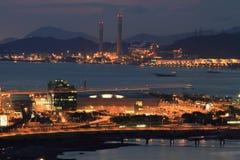 Noche en Tung Chung Bay Imagen de archivo libre de regalías