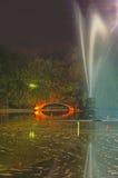 Noche en un parque Imágenes de archivo libres de regalías