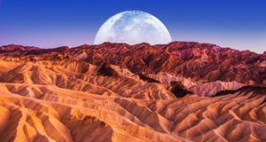 Noche escénica de Death Valley fotografía de archivo