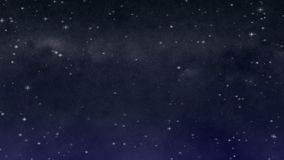 Noche estrellada con el lazo Wispy de las nubes metrajes