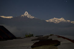 Noche estrellada de Dhampus Fotografía de archivo libre de regalías