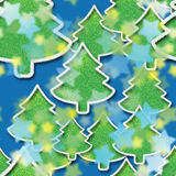 Noche estrellada en bosque de la Navidad imágenes de archivo libres de regalías