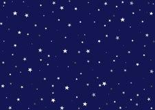 Noche estrellada estrellada Stock de ilustración