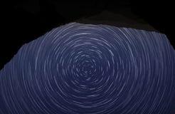 Noche estrellada ondulada Foto de archivo libre de regalías