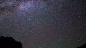 Noche estrellada Pamir, Tayikistán 4K almacen de metraje de vídeo