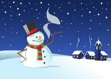 Noche fría del invierno Imágenes de archivo libres de regalías