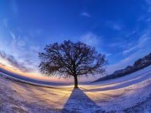 Noche fría hermosa en Dobrogea Fotos de archivo