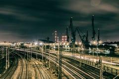 Noche Gdansk Imagenes de archivo
