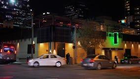 Noche genérica del restaurante de la barra que establece el tiro almacen de metraje de vídeo