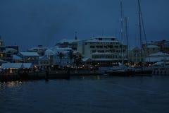Noche Hamilton Bermuda del puerto Imagen de archivo
