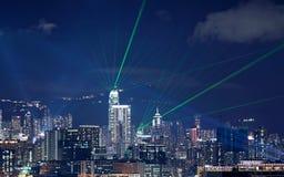 Noche hermosa del laser Imagen de archivo libre de regalías