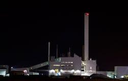 Noche industrial Imagen de archivo libre de regalías