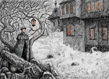 Noche irlandesa la víspera de Samhain Fotos de archivo