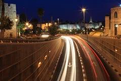 Noche Jerusalén Foto de archivo libre de regalías