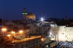 Noche Jerusalén Imagenes de archivo