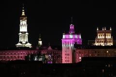 Noche Kharkov, Ucrania imagen de archivo