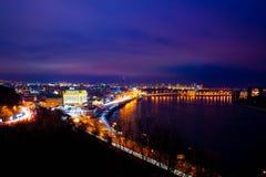 Noche Kiev Imagen de archivo libre de regalías