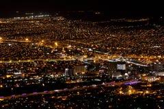 Noche Lights-1 del EL Paso-Juarez Imagen de archivo