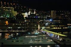 Noche Mónaco Imagenes de archivo