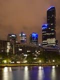 Noche, Melbourne Victoria foto de archivo libre de regalías