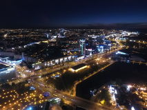 Noche Minsk foto de archivo