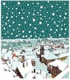 Noche misteriosa de la Navidad stock de ilustración